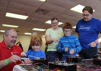 Families explore at Tech Fest