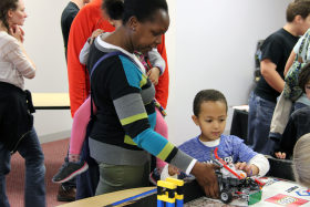 Robotics family day at The Works Museum in Bloomington.