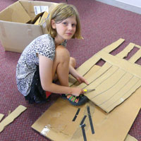 Cardboard Fort Building for Families