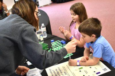 kids explore chemistry at Tech Fest